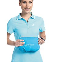 Maier Sports Metor - giacca hardshell con cappuccio - donna, Light Blue