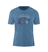 Maier Sports Walter Print - T-Shirt - Herren, Blue