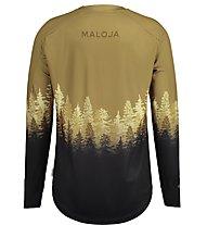 Maloja LebermoosM - maglia a maniche lunghe - uomo, Brown/Black