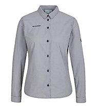 Mammut Aada Longsleeve Shirt W - Langarmhemd - Damen, Black/White