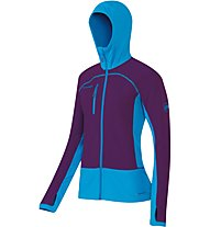 Mammut Aconcagua Pro ML Hooded Jacket Giacca in pile Donna, Pink/Blue