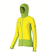 Mammut Aconcagua Pro ML Hooded Fleecejacke Damen, Sunglow/Fern