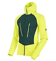 Mammut Aenergy Light - Fleecejacke mit Kapuze - Herren, Yellow/Green
