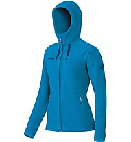 Mammut Arctic Hooded Midlayer giacca in pile trekking donna, Light Blue
