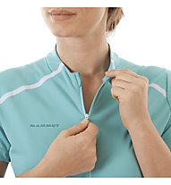Mammut Atacazo Light Zip - Kurzarmshirt mit Reißverschluss - Damen, Light Blue