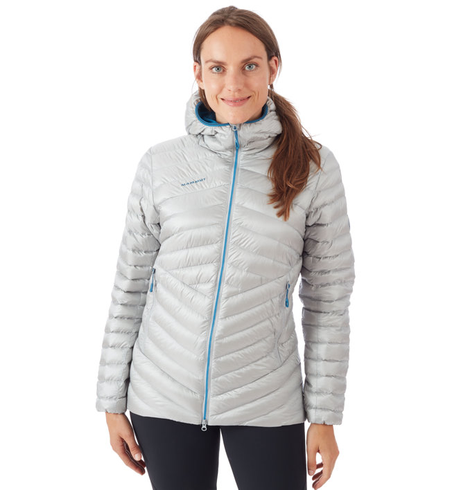 Mammut Broad Peak in Hooded - Daunenjacke mit Kapuze - Damen, White