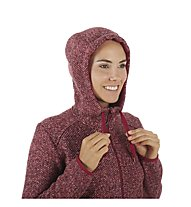 Mammut Chamuera ML - giacca in pile con cappuccio - donna, Red