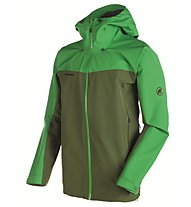 Mammut Crater Hs Hooded Giacca in GORE-TEX trekking, Green