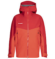 Mammut Crater HS Hooded - giacca trekking - uomo, Red/Orange