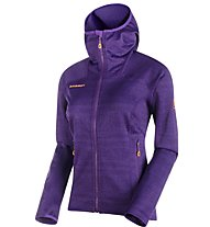 Mammut Eiswand Guide - giacca in pile con cappuccio trekking - donna, Violet