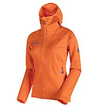 Mammut Eiswand Guide - giacca in pile con cappuccio trekking - donna, Orange