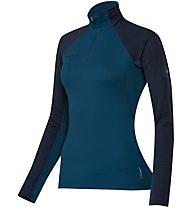 Mammut Illinza Zip Pull Damen Fleecepullover mit 1/4 Reißverschluss, Blue