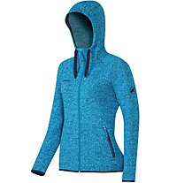 Mammut Kira Tour ML Hooded giacca in pile donna, Light Blue