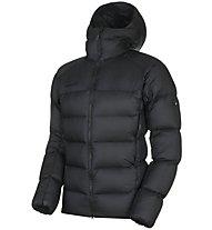 Mammut Meron Hooded - giacca isolante con cappuccio - uomo, Black/Black