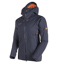 Mammut Nordwand Hs Thermo - Hardshelljacke mit Kapuze Skitour - Herren, Black/Orange