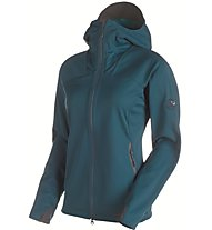 Mammut Ultimate Hoody Women Damen Softshelljacke mit Kapuze, Blue