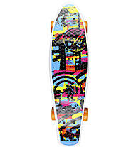 Maui and Sons Printed PU Kicktail Dark City Mini-Cruiser Skateboard, Dark City
