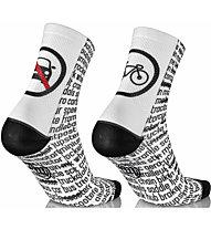 Mbwear Fun - Radsocken, White/Black