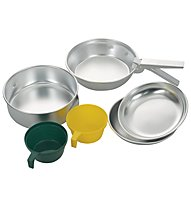 Meru Alu Cooking Set - set stoviglie, Alu/Green/Yellow
