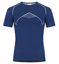 Meru Angoon SS - maglietta tecnica - uomo, Blue/Grey