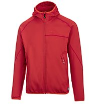 Meru Arvada - giacca in pile con cappuccio trekking - uomo, Red