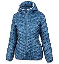 Meru Ashburton Print - giacca in piuma con cappuccio - donna, Blue
