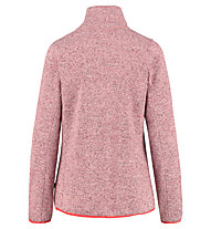 Meru Bergen knitted striped fleece - giacca in pile - donna, Red