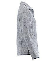 Meru Bergen knitted striped fleece - felpa in pile - donna, Light Blue