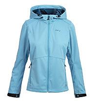 Meru Brest - Softshelljacke Bergsport - Damen, Light Blue