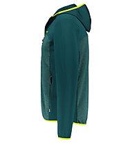 Meru Drammen stretch/waffle fleece - felpa in pile con cappuccio - uomo, Green