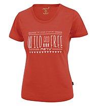 Meru Enköping - T-Shirt trekking - donna, Grenadine