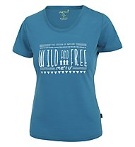 Meru Enköping - T-Shirt trekking - donna, Light Blue