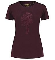 Meru Enköping - T-shirt trekking - donna, Dark Red