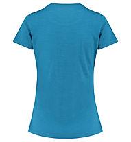 Meru Enköping Wool - T-shirt - donna, Blue