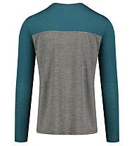 Meru Fauske l/s shirt men - maglia a manica lunga - uomo, Grey/Green