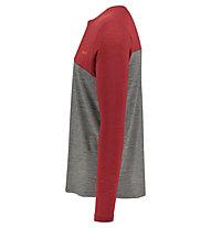 Meru Fauske l/s shirt men - maglia a manica lunga - uomo, Grey/Red