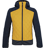 Meru Frasertown - giacca ibrida con cappuccio - uomo, Yellow/Dark Blue