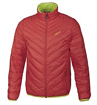 Meru Gander Light Daunenjacke, Poppy Red/Lime Punch