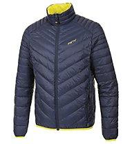 Meru Gander Man Light Down Jacket Giacca in piuma, Dark Blue/Yellow