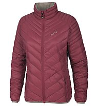 Meru Gander Woman Light Down Jacket giacca piuma trekking donna, Bordeaux/Walnut