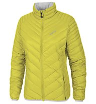 Meru Gander Woman Light Down Jacket giacca piuma trekking donna, Yellow/Silver
