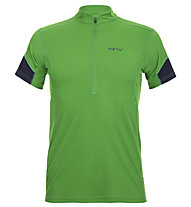 Meru Gisborne - Kurzarmshirt mit Reißverschluss - Herren, Green