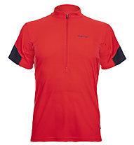 Meru Gisborne - Kurzarmshirt mit Reißverschluss - Herren, Red