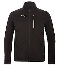 Meru Hampden - giacca softshell con cappuccio - uomo, Black