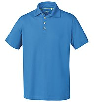 Meru Herren Basic Polo Shirt, Blue