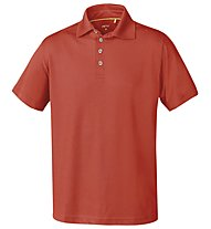 Meru Herren Basic Polo Shirt, Orange