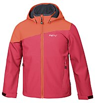 Meru Inari Softshellhoody Kinder, Red/Orange