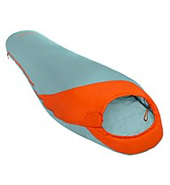 Meru Isar 11 - sacco a pelo sintetico, Light Blue/Orange