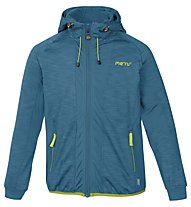 Meru Jk Kitchener Melange Jr Kinder Fleecejacke mit Kapuze, Blue