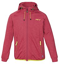 Meru Jk Kitchener Melange Jr Kinder Fleecejacke mit Kapuze, Red
